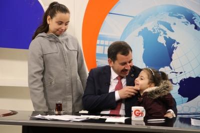 Başkan Baydilli'ye Çocukların'dan Canlı Yayın Sürprizi