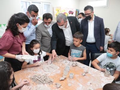 Başkan Beyazgül Halfeti'de temaslarda bulundu