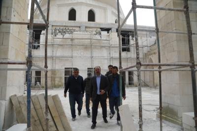 Başkan Çiftçi 11 Nisan Külliyesin'deki Çalışmaları İnceledi