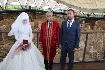 Başkan Demirkol Göbeklitepe'de Nikah Kıydı