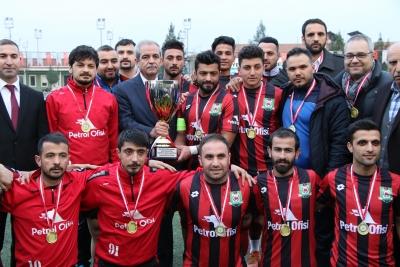 Başkan Demirkol Haliliye Belediyesi 1. Amatör Ligi Şampiyonuna Kupasını Verdi