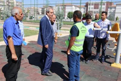 Başkan Demirkol İmam Bakır Mahallesinde Çalışmaları Denetledi