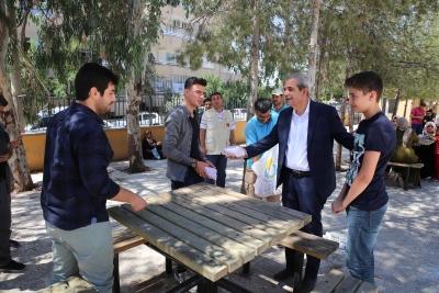 Başkan Demirkol Sınava Giren Öğrencileri Unutmadı