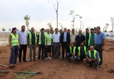 Başkan Demirkol Yemyeşil Haliliye İçin 158 Bin Ağacı Toprakla Buluşturduk