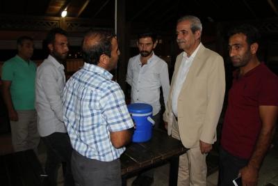 Başkan Demirkol'dan Hasta Yakınlarına Gece Ziyareti