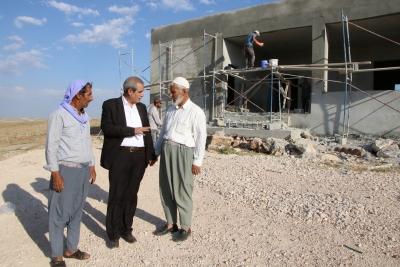 Başkan Demirkol,Kültür Evi İnşaatında İncelemelerde Bulundu