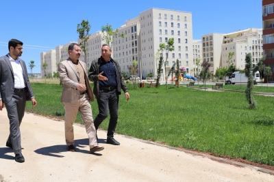 Baydilli Seyrantepe'deki yeni parkı inceledi