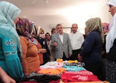 Bozovalı kadınların ev ekonomilerine destek olmalarının önü açılıyor.