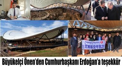 Büyükelçi Önen'den Cumhurbaşkanı Erdoğan'a teşekkür