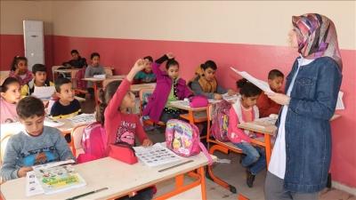 Ceylanpınar'da telafi eğitimi ara tatilde devam ediyor