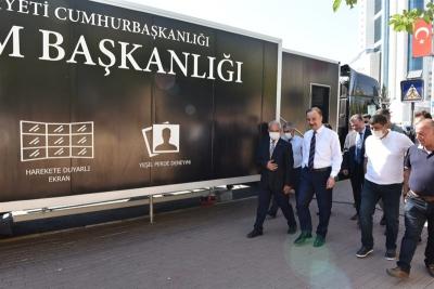 Cumhurbaşkanlığı İletişim Başkanlığı Dijital Tırı Şanlıurfa'da