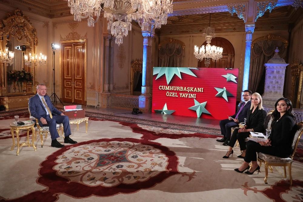 Cumhurbaşkanı Erdoğan: ″Haklarımıza rağmen tehdit ettiler ama biz aldırmadık″