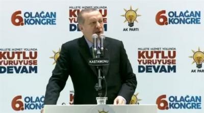 Erdoğan: Türkiye Cumhuriyeti devletinden başka bir devlet tanımıyoruz