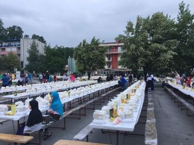 Eyyübiye Belediyesi Bosna'da İftar Verdi.