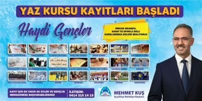 Eyyübiye Belediyesi İlçe Gençliğini 'Yaz Kursu' Etkinliğine Bekliyor