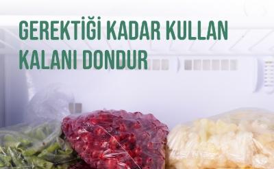 Fazla Olanı Dondur, Çürümesine Engel Olarak Gıdanı Koru!