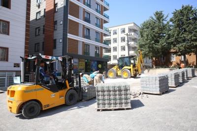 Haliliye Belediyesi Beton Parke Çalışmalarını Sürdürüyor