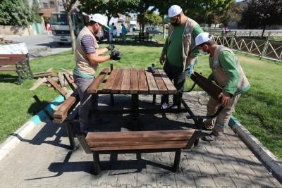 HALİLİYE'DE YENİ PARKLAR 'YEŞİL' İLE BULUŞUYOR