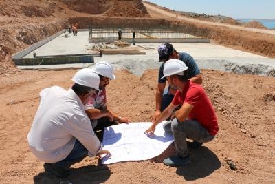 Hilvan İçme Suyu Arıtma Tesisi Çalışmaları Sürüyor