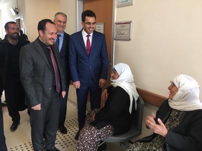 İl Sağlık Müdürü Doç. Dr. M. Emre ERKUŞ Hilvan Devlet Hastanesinde incelemelerde bulundu.