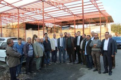 İşyerleri Yanan Oduncu Pazarı Esnafına Başkan Demirkol Sahip Çıktı