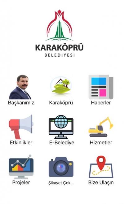 Karaköprü Belediyesi Mobil Uygulaması Hizmette
