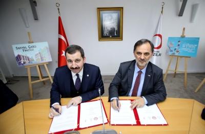 Karaköprü Belediyesi İle Kızılay Arasında İki Önemli Projenin Protokolü İmzalandı