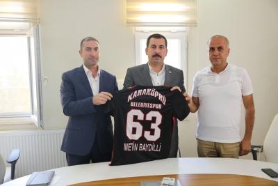 Karaköprü Belediyespor Yönetiminden Başkan Baydilli ye Ziyaret