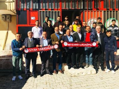 Karaköprü Belediyespor Yönetimin'den Taraftara Ziyaret