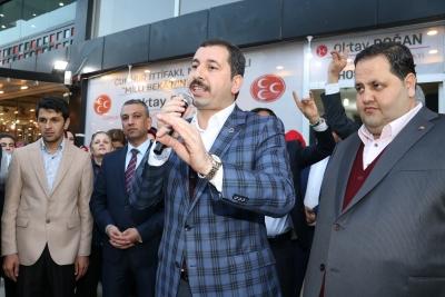 Karaköprü'de Cumhur İttifakı Seçim Bürosu Açıldı