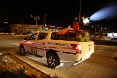Karaköprü'de Gece İlaçlaması Aralıksız Sürüyor