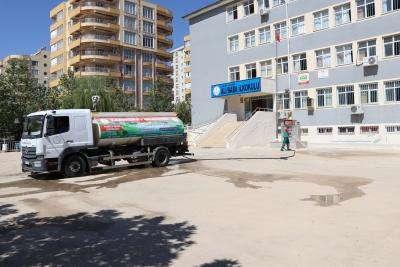 Karaköprü'de Okullarda Kapsamlı Temizlik