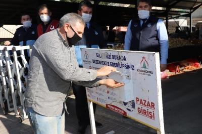 KARAKÖPRÜ'DE PANDEMİ DENETİMLERİ SIKI TUTULUYOR