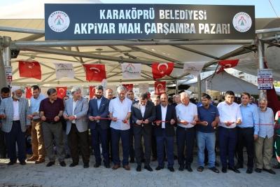 KARAKÖPRÜ'YE BİR SEMT PAZARI DAHA KAZANDIRILDI