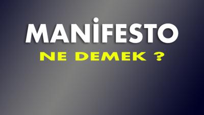 Manifesto ne demek?
