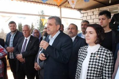 Milletvekili Açanal Ve Ak Parti adayı Beyazgül Viranşehir'de;