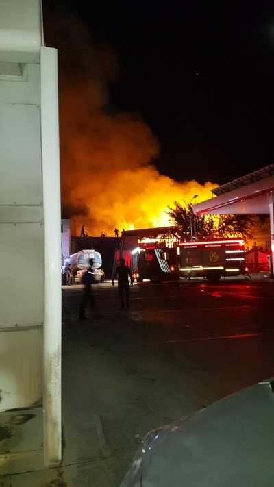 Oduncu Pazarında Yangın