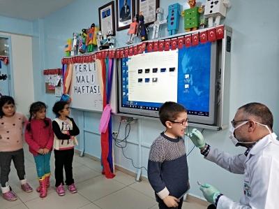 Okullarda Koruyucu Ağız ve Diş Sağlığı Programı gerçekleştirildi.