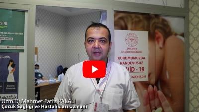 Şanlıurfa Eğitim ve Araştırma Hastanesi Çocuk Sağlığı ve Hastalıkları Uzmanı Dr. Mehmet Fatih PALALI Gençlere Aşılarını Yaptırmaları İçin Çağrıda Bulundu.