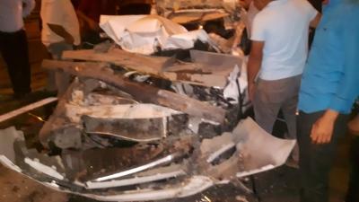 Şanlıurfa- Gaziantep otoyolunda kaza.