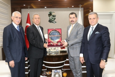 ŞANLIURFA VAKFI'NDAN BAŞKAN BAYDİLLİ'YE ZİYARET