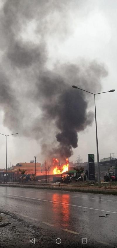 Şanlıurfa'da akaryakıt istasyonunda son dakika patlama