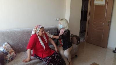 Şanlıurfa'da Evde Aşı Uygulaması Başladı