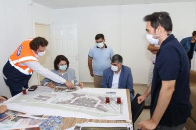 Şehir hastanesi çalışmaları yerinde incelendi.
