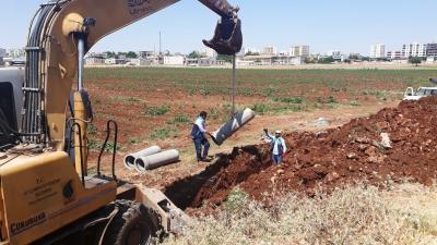 Şuski Hilvan Korçik Deresindeki Kanalizasyon Hattını Yeniledi