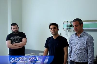 Viranşehir Devlet Hastanesinde ilk kez kasık fıtığı ameliyatı yapıldı.