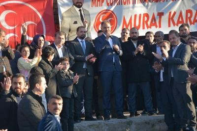 Yavuz'dan  Başkan Adayı Kuş'a Miting Havasında Seçim Bürosu