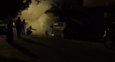Yenişehirde araçlar kundaklandı.